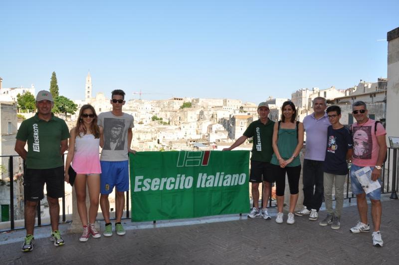 Lo stand dell´Esercito Italiano a Matera