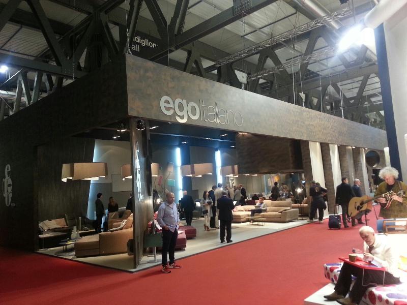Lo stand di Ego Italiano al Salone del Mobile di Milano