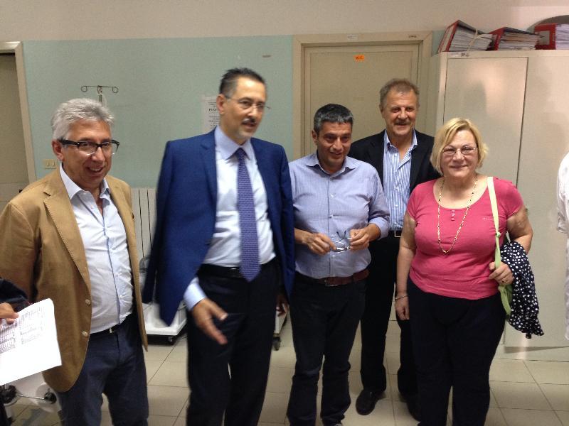 Marcello Pittella visita gli ospedali di Tricarico, Policoro e Stigliano