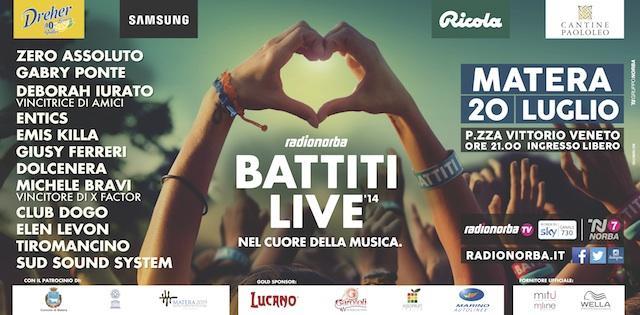 Radionorba Battiti Live 2014 a Matera