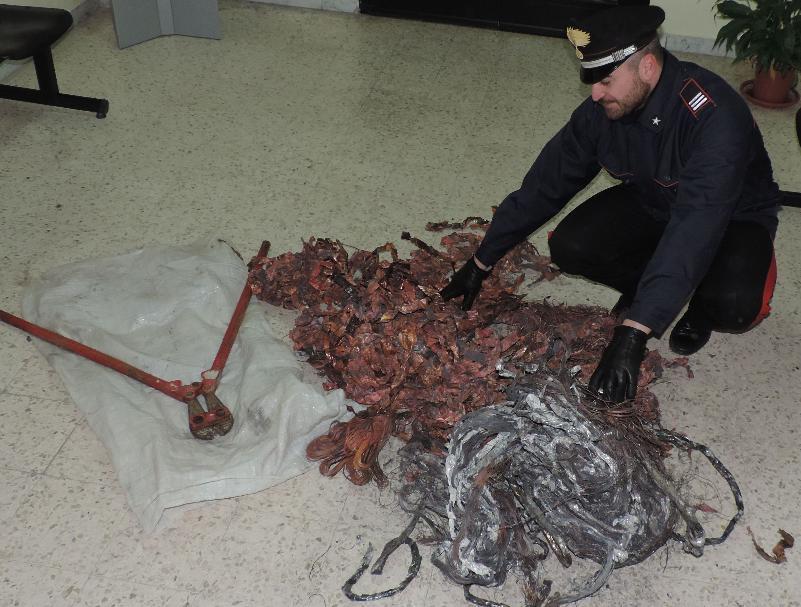 Refurtiva recuperata e dell´attrezzatura usata rinvenuti dai Carabinieri - 14 marzo 2014