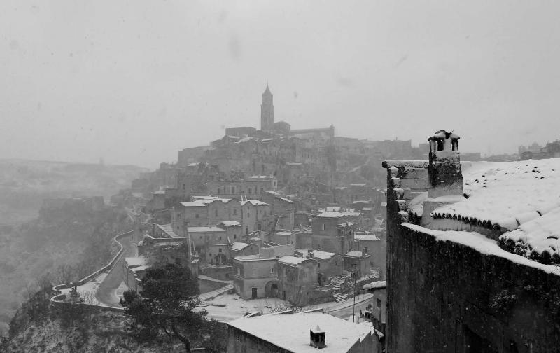 Sassi di Matera imbiancati - 30 dicembre 2014 (foto Danilo Mazzilli)