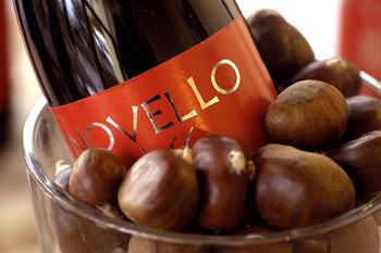 Vino Novello e castagne