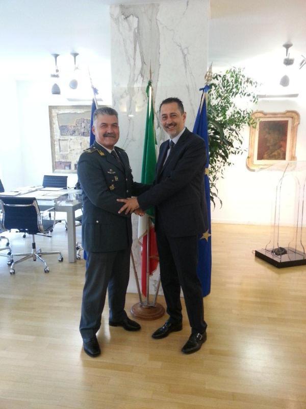 Visita del generale della Gdf Valerio Zago a Marcello Pittella
