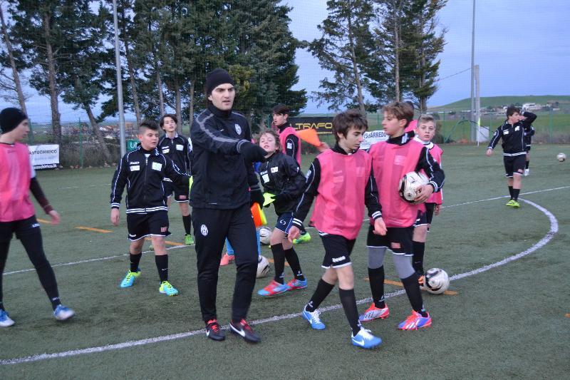 Visita del tecnico Juventus Adacemy nazionale, Luca Corona.
