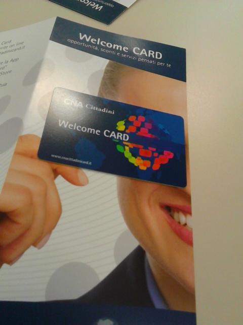 Welcome card di CNA