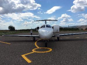 Cessna Citation Mustang, primo aereo privato atterrato sulla Pista Mattei
