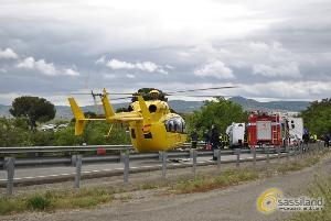 Foto di repertorio: Incidente sulla via Appia tra furgone a Renault Clio - 16 maggio 2014 (foto SassiLand)