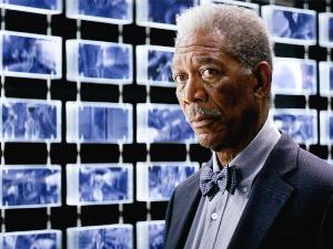 Morgan Freeman in una scena del film Batman, il Cavaliere Oscuro - Matera