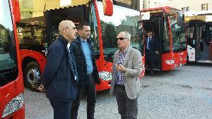 Presentazione di due nuovi mezzi della Miccolis per il trasporto urbano