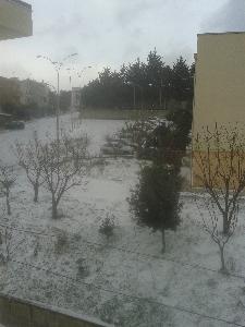 San Mauro Forte - Piazza Isabella Morra sotto la neve