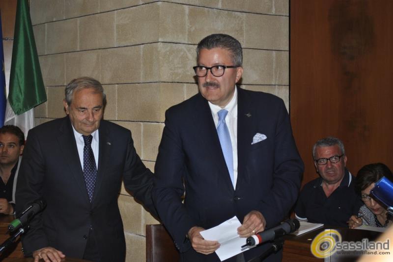 Angelo Tortorelli appena eletto presidente del Consiglio Comunale di Matera - 6 luglio 2015 (foto SassiLand)