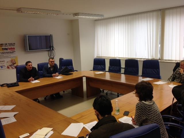 Conferenza stampa dei consiglieri Perrino e Leggieri del M5s