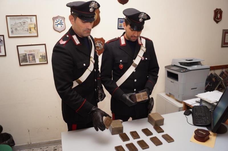 Hashish sequestrato dai Carabinieri