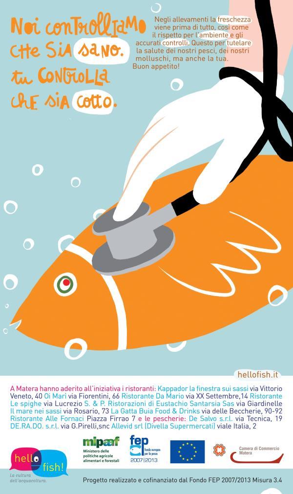Hello Fish, campagna promozionale per l´acquacoltura