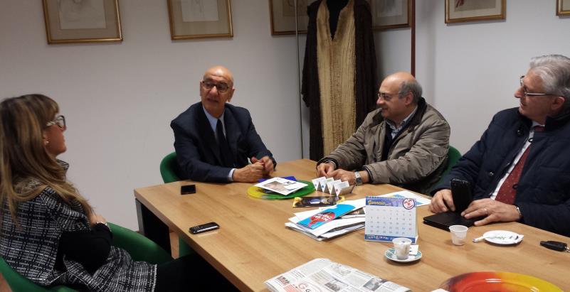 Incontro con i rappresentanti delle organizzazioni sindacali Manuela Taratufolo, Cgil, Giuseppe Amatulli, Cisl e Franco Coppola, Uil - 28 febbraio 2015
