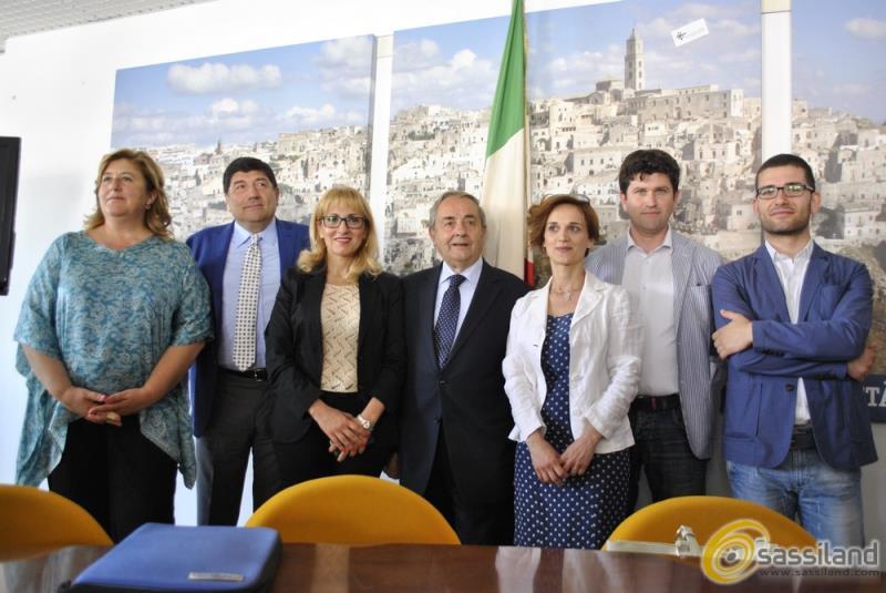 La nuova giunta comunale di Matera (foto SassiLand)