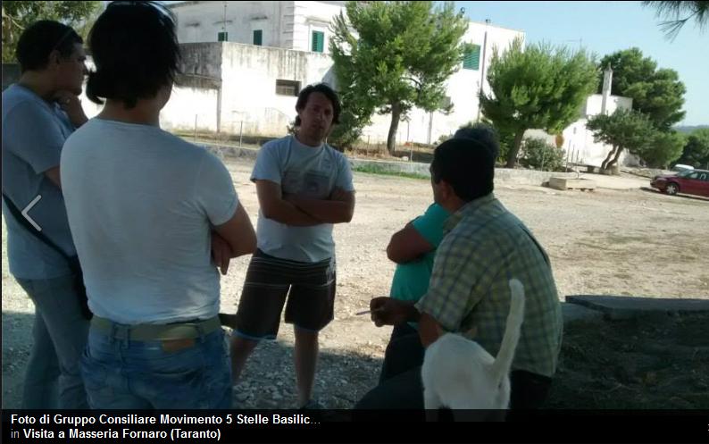 Movimento 5 Stelle Basilicata in visita alla Masseria Fornaro a Taranto