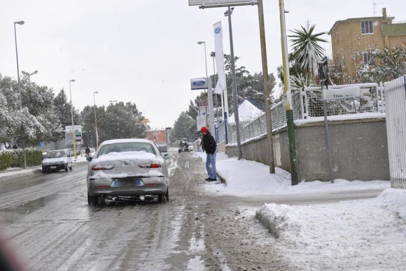 Neve a Matera - 31 dicembre 2014 (foto SassiLand)