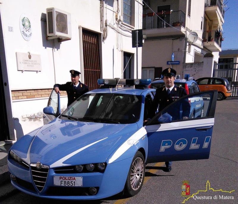 Pattuglia della Polizia di Pisticci
