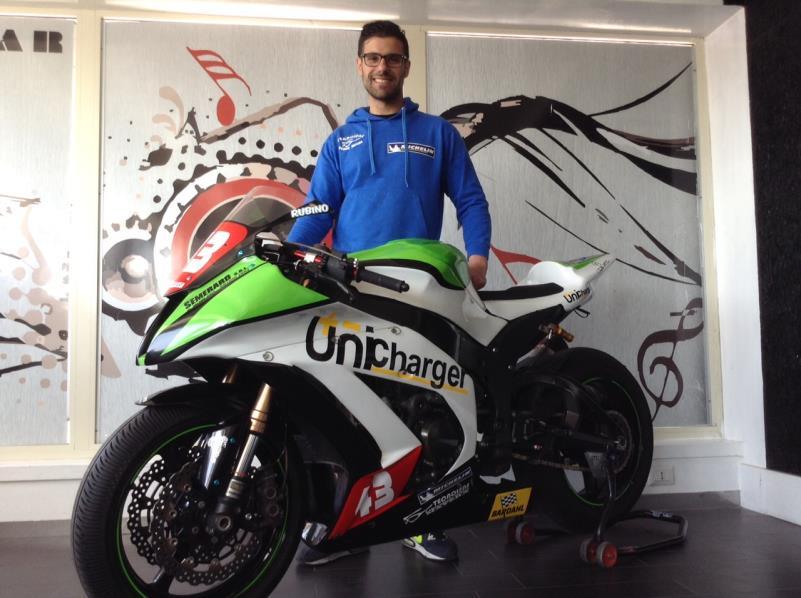Raffaele Rubino con la sua Kawasaki versione 2015