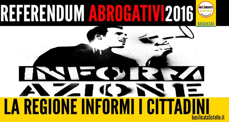 Referendum abrogativi, Movimento 5 Stelle