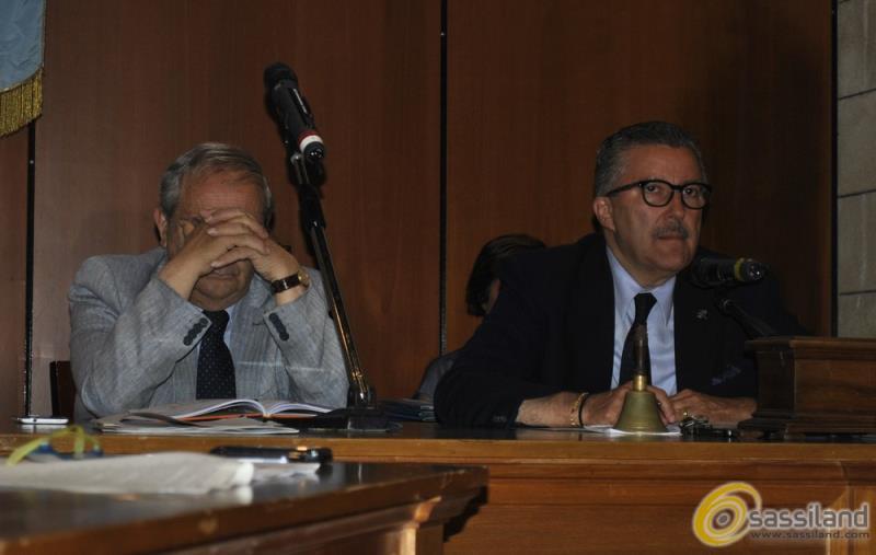 Terzo consiglio comunale, Raffaello De Ruggieri e Angelo Tortorelli (foto SassiLand)