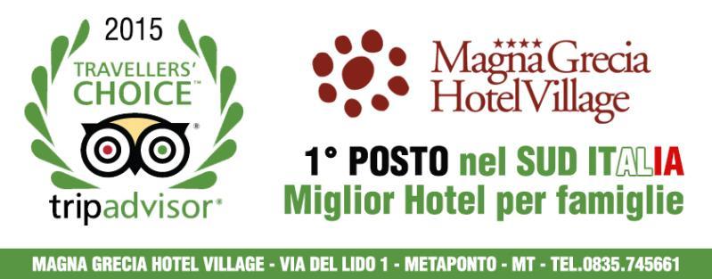 TripAdvisor: Magna Grecia Hotel Village, prima struttura nel Sud Italia