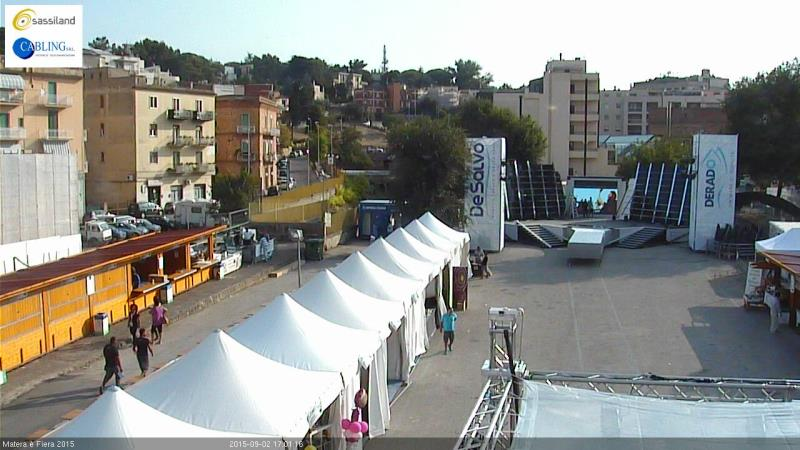 Matera � Fiera 2015: Su SassiLand una webcam riprende l'evento