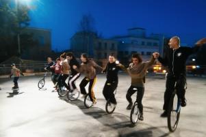 Atleti su Monociclo - Matera