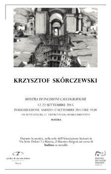 Corso di Bulino su metallo con KRZYSZTOF SKORCZEWSKI. - Matera