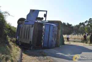 Incidente: Auto-treno si ribalta su auto. Due feriti (foto SassiLand) - Matera