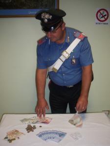 La banconote sequestrate dai Carabinieri - Matera