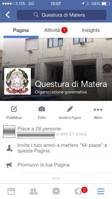 La Questura di Matera su Facebook - Matera