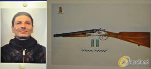 Luciano Rondinone e il fucile a canne mozze - Matera