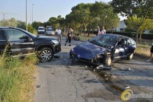 Matera: Auto contro SUV, incidente a La Martella - 6 agosto 2015 (foto SassiLand)
