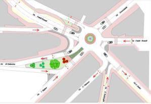 Progetto rotatoria fra via Annunziatella e via Rosselli a Matera - Matera