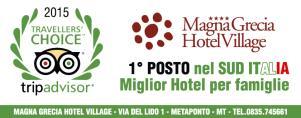 TripAdvisor: Magna Grecia Hotel Village, prima struttura nel Sud Italia  - Matera