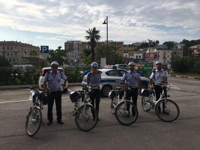 Biciclette a pedalata assistita in dotazione al  Corpo della Polizia Municipale di Matera