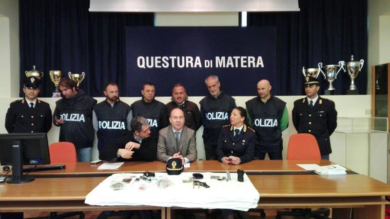Conferenza stampa Questura di Matera