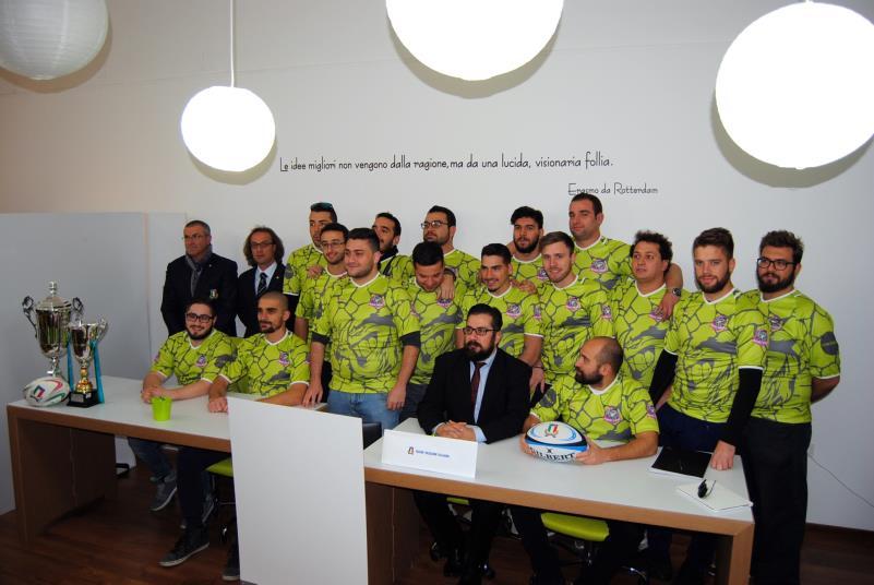 Contabilo Murgia Rugby con presidente Fiore e delegati FIR di Puglia e di Basilicata