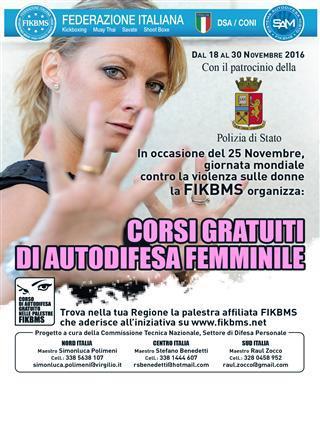 Corsi gratuiti di autodifesa femminile