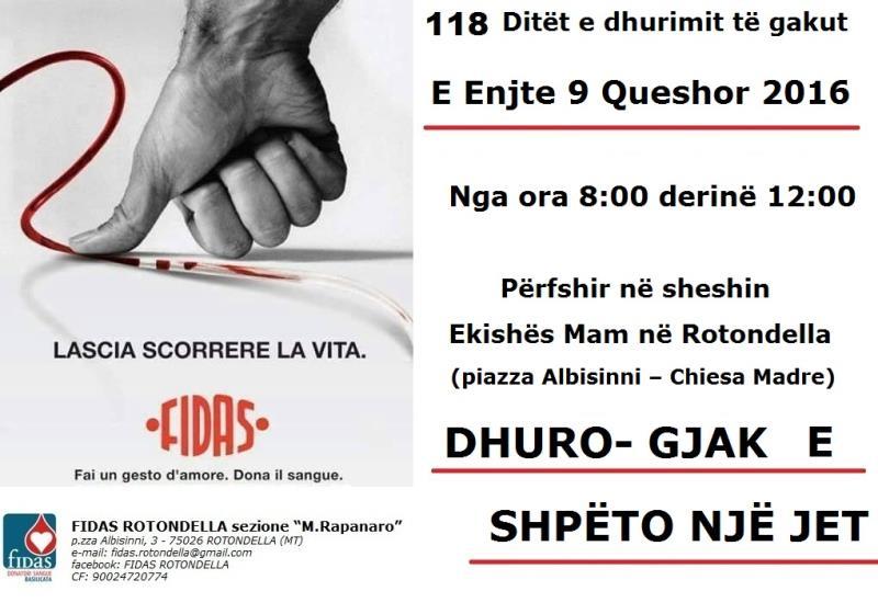 FIDAS: Prima campagna di comunicazione in lingua albanese