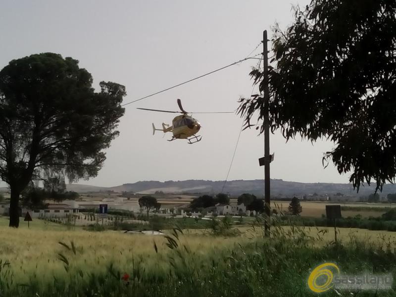 Elisoccorso - Incidente tra Borgo Timmari e La Martella - 28 maggio 2016 (foto SassiLand)
