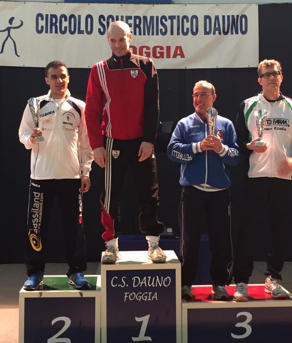 Mimmo Di Giorgio, podio alla IV prova nazionale del Campionato Italiano Master di scherma