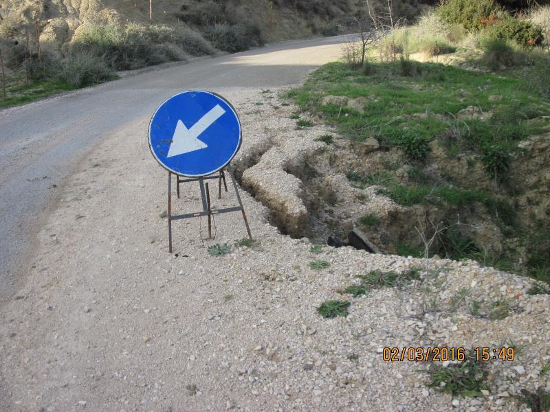 Strada Provinciale Pomarico – Bernalda dissestata