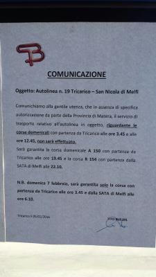 Comunicazione TitoBus - Matera