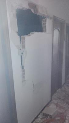 Danni causati dall´esplosione della bombola a Bernalda - 12 febbraio 2015