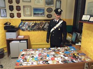 DVD sequestrati dai Carabinieri - Matera