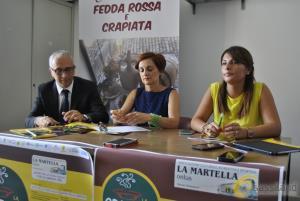 Giovanni Oliva, Antonella Prete e Flores Montemurro - presentazione Sagre della Crapiata e delle Fedda Rossa a La Martella - 29 luglio 2016 (foto SassiLand)